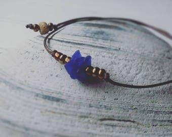 Blue Cobalt - Sea Glass Bracelet