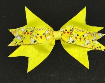Pikachu Pokemon spiky ribbon