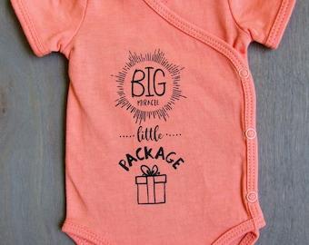 Organic Preemie Onesie 'Big Miracle Little Package' NICU Nurse Approved