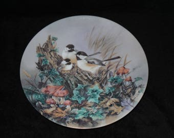 """1990 W.S. George Nature's Poetry """"Gentle Refrain"""" Collector Plate by Lena Liu"""