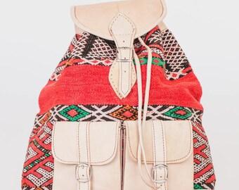 Kilim backpack boho Kilim bag Kilim backpack Kilim bag Bohemian style boho chic genuine leather leather leather
