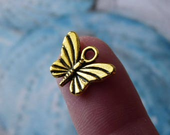 Butterfly Charms, Charm for Bracelet, Butterfly Connectors, Antique Gold Tone  Butterfly Charms for Earrings Bracelets Necklaces