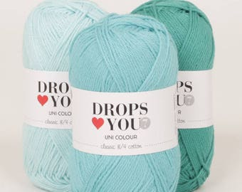 Garnstudio DROPS love You 7  100% cotton Yarns (5 Ply)