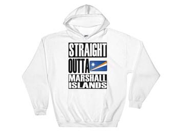 Straight Outta Marshall Islands Hooded Sweatshirt