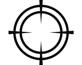 Scope #1 Shotgun Rifle Target Gun Weapon Shooting Hunting .SVG .EPS .PNG Instant Digital Clipart Vector Cricut Cut Cutting Download File