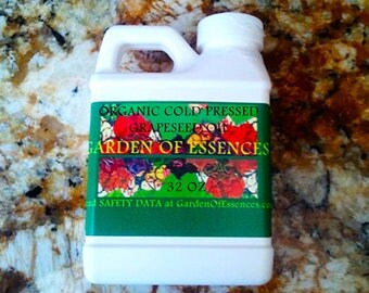 ORGANIC Grapeseed Oil UNREFINED Cold Pressed UNDILUTED, Pure Grapeseed Massage Oil, Premium Grape Seed Oil, Extra Virgin Grapeseed Oil