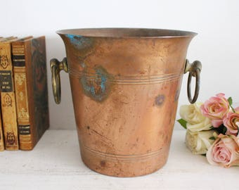 Vintage French Copper Ice Bucket - Wine Cooler