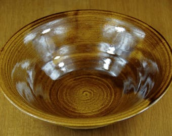 Ceramic Bowl Handmade in Stoneware, Centrepiece, Pottery Bowl, Salad Bowl, Serving Bowl