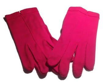 Vintage Hot Pink Wear Right Ladies Gloves