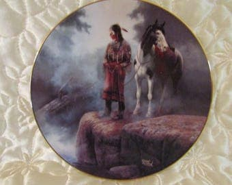 """Hamilton Collection """"Appeasing The Water People"""" Plate"""