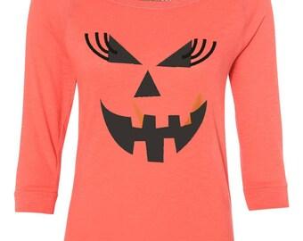 Halloween Shirts. Jack o Lantern. Pumpkin Face. Halloween Sweatshirt. Halloween. Halloween T-Shirt. Halloween Shirts for Women.