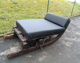 Sofa Chair of chaise Lounger sled unique Black Brown