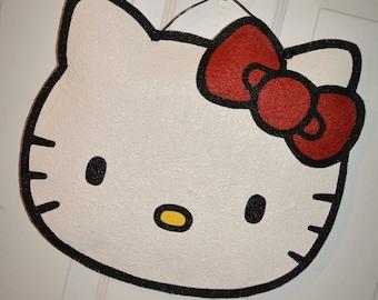 Hello Kitty burlap door hanger