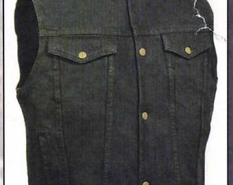 1331 Black Denim Vest