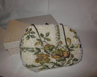 Vintage Simon beaded evening bag - with original box