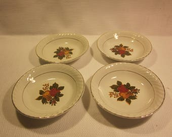 "Set of 4 Enoch Wedgwood (Tunstall)Ltd. ""English Harvest"" berry bowls"