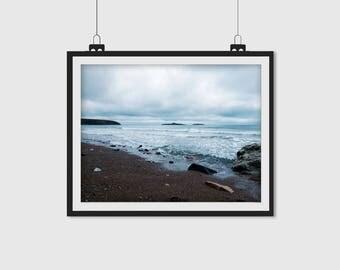 The Aberdaron Coast-Wales, Blue Coast, Blue Beach, Beach Print, Coastal Print, Coastal Photograph, Beach Photograph, Wall Art, Photo Gift