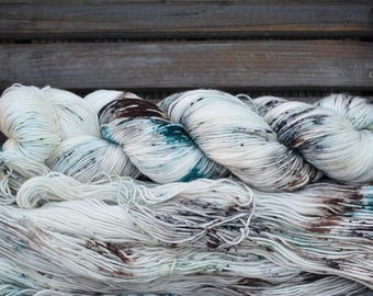 "Sock Yarn - ""Lichen""  - Four Elements Theme - Merino / Nylon - Hand Dyed -  100g"