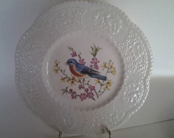 Royal Cauldon Eastern  Bluebird plate
