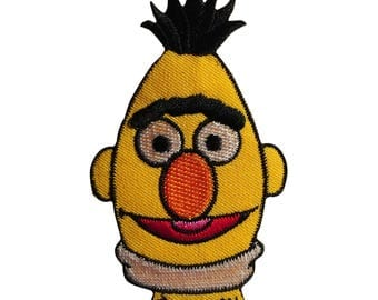 Patch / patch - Sesame Street Bert comic kids - yellow - 9, 1 x 5, 5 cm - patch application applications to the iron application patches patch