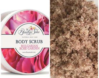 Bulgarian Rose Organic Body Scrub - 12 oz