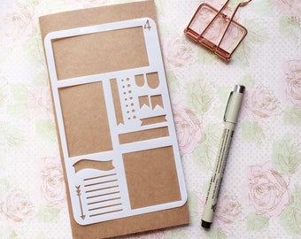 Bullet Journal Stencil #4 - Planner, Journal, Craft, Scrapbooking, Decoration