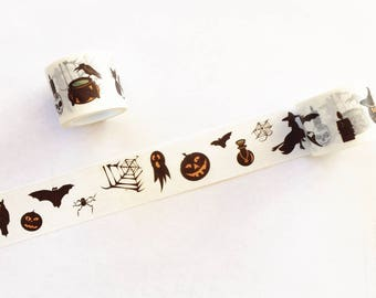Halloween Night Washi Tape - Planner, Journal, Craft, Scapbooking, Decoration