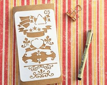 Bullet Journal Stencil #C5 - Planner, Journal, Craft, Scrapbooking, Decoration