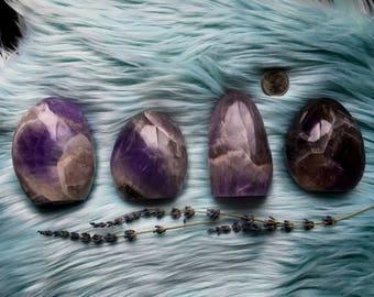 Chevron Amethyst Free Form, Healing Crystal, Reiki