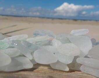 "200 pcs WHITE TINY Genuine Sea Glass Bulk - Size 0,4-0,6""- Craft Quality -For Jewelry Art - Mosaic-Glass Home Decor-Wedding decor#26B#"