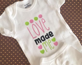 Love made me Baby Bodysuit