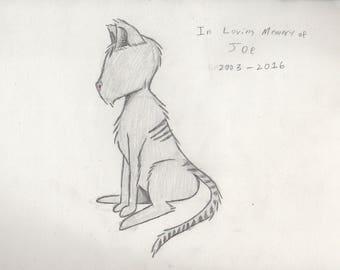 Letter Pencil Pet Portrait