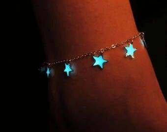 Glow heart or star bracelet