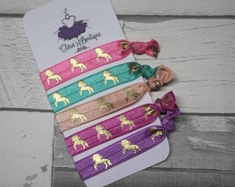 Modern Hair Ties, Hair ties, party favours, holiday favours, foe hair ties, unicorns