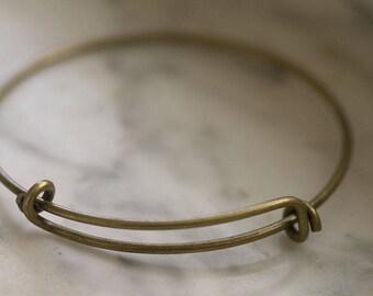 Antique Bronze Or Silver Adjustable Bracelets, Add a Charm Bracelet