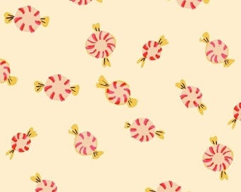 PREORDER - Heather Ross Candies in Cream Sugar Plum Collection Fabric Yardage Arrives May 2018