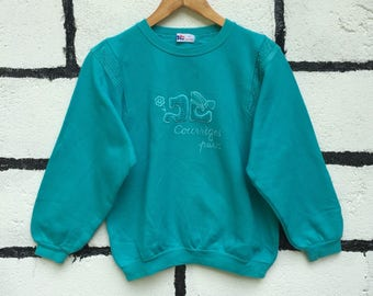 Rare Courreges Sweatshirt Spell Out Nice Design