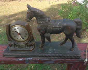 sessions bronzemessing antik pferd mantel uhr - Mantel Der Ideen Mit Uhr Verziert