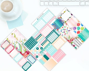 Watercolour Wash - Weekly Kit Stickers for Erin Condren Vertical LifePlanner