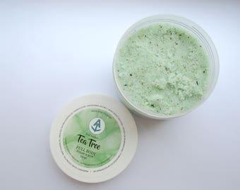 Tea Tree Full Body Sugar Scrub [Vegan & Organic] Teal Anchor