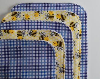 Bumblebee Contoured Burp Cloths: Set of Five