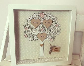 Family Tree Frame, Personalised Gift, Family Gift, Wall Decor