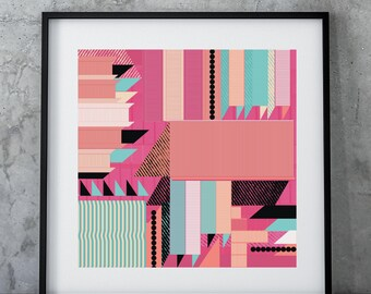Trendy Print | Bold Poster Design |Wedding ideas | Gift for Them | Geometric Poster | Trend led Art | Beautiful Pattern gift