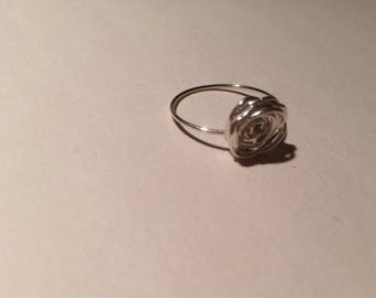 Sterling Silver Ring - Rose