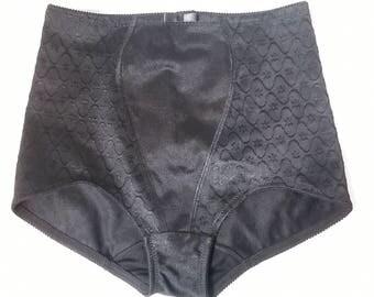 Vintage Control Panties 1990s Black Panty Girdle Vintage Lingerie St Michael  Size Medium - Large 90s