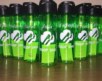 16- Girl Scouts custom water bottles!