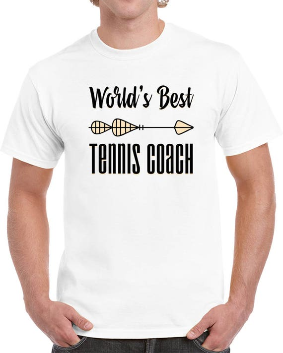 Tennis Coach Gifts, World's Best Tennis Coach, Gift for Coaches, Funny t-shirt Sports Print, Gift for Husband Father Dad T Shirt