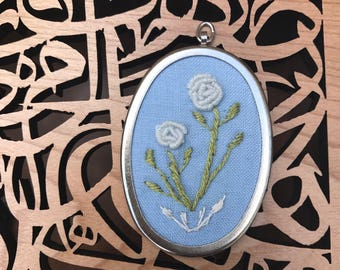 Rose Embroidered Necklace