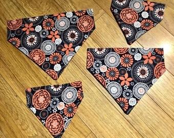 Blue floral dog bandana