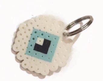 Blue Eyeball Keychain